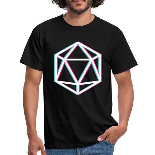 3D D20 weiß - Men's T-Shirt