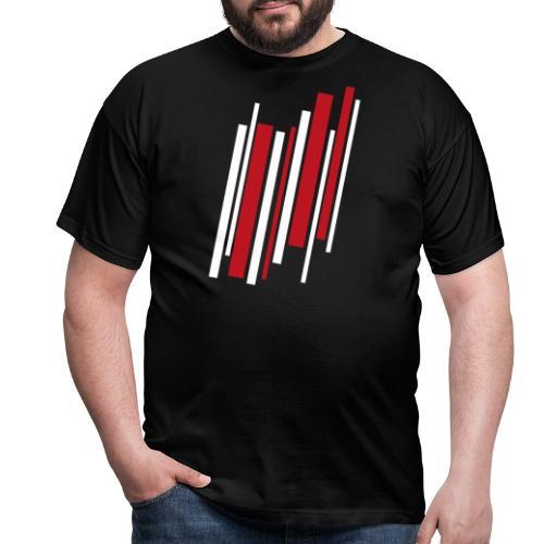 Red-White-Lines - Männer T-Shirt