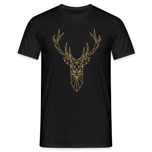Hirschkopf Triangel-Design gold - Männer T-Shirt