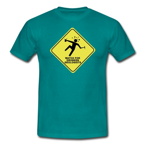 watch for drunken geologists english l - T-shirt Homme
