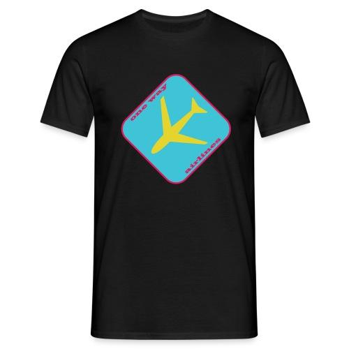 One Way Airlines BLACK - Koszulka męska