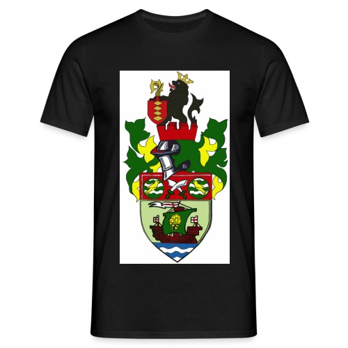 runcorn linnets crest large 120dpi - Men's T-Shirt