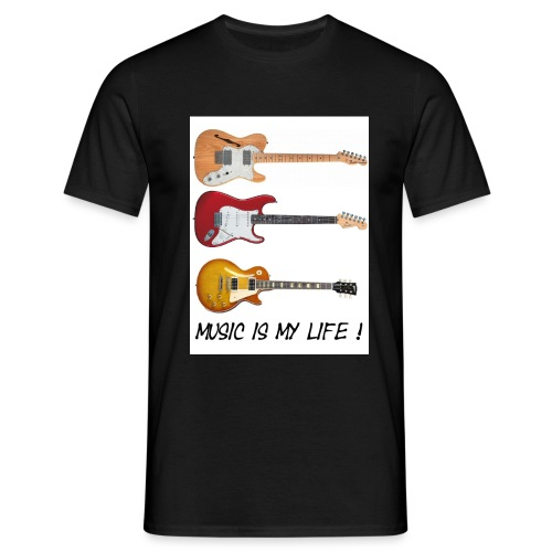 Music is my life! - T-skjorte for menn