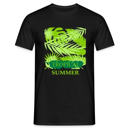 Tropical Summer Leaf - Männer T-Shirt