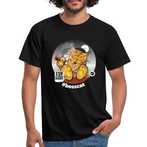 bosscat dunkel - Männer T-Shirt