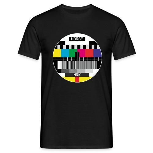 Norge-sv - T-skjorte for menn