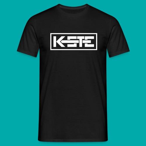 K-STE Logo weiß - Männer T-Shirt