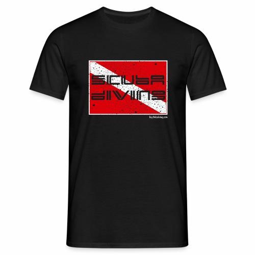 scuba diving-broken flag - Men's T-Shirt