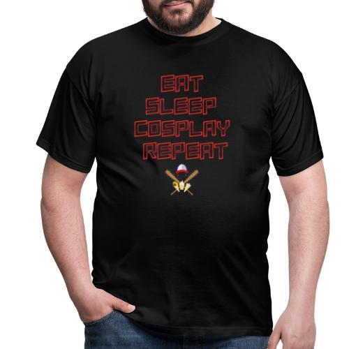 S.T. - EatSleepCosplayRepeat - Männer T-Shirt