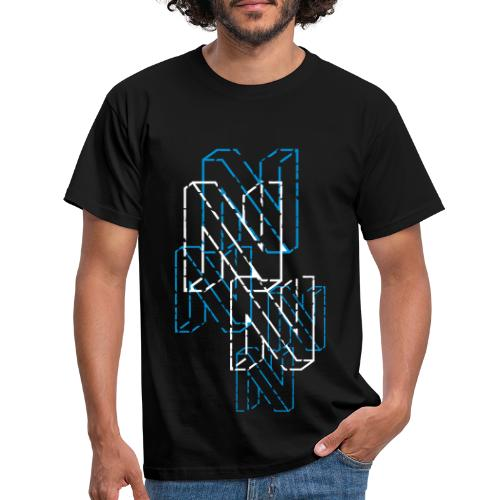 Neos logo trashed (neg) without URL, 2-color - Men's T-Shirt