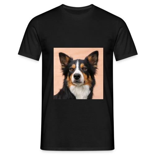 tri border collie dog - Men's T-Shirt