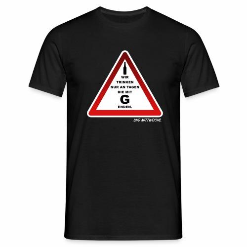 Warndreieck - Männer T-Shirt