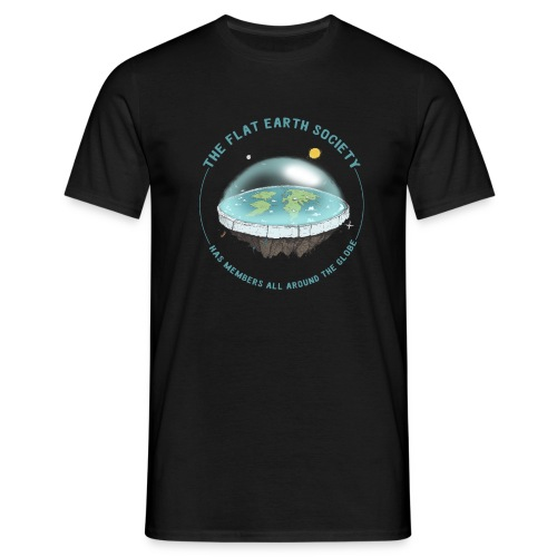 flat earth threadless - Men's T-Shirt