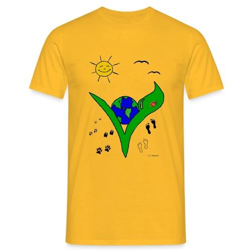 Ein Logo geht um die Welt - Männer T-Shirt
