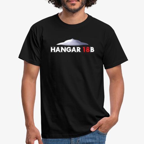 UFO mit Hangar18b Schriftzug - Männer T-Shirt
