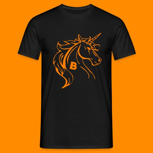 orange biodusty unicorn shirt - Mannen T-shirt