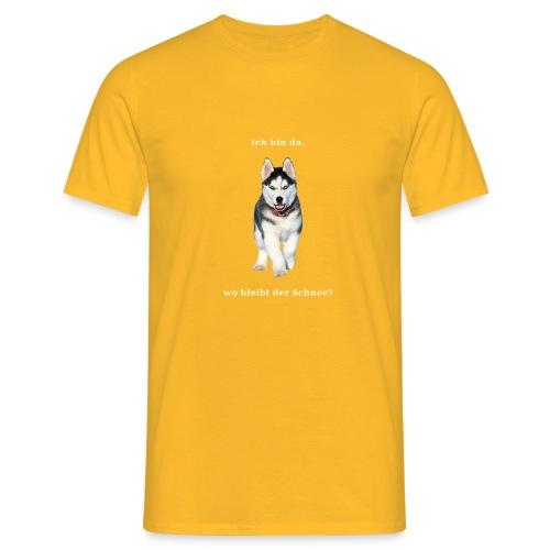 Husky Welpen mit bezaubernden Augen - Männer T-Shirt
