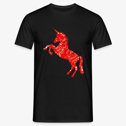 Red Prancing Unicorn - Men's T-Shirt