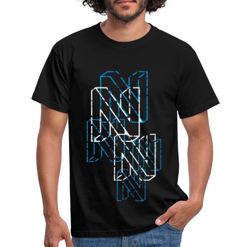 Neos logo trashed (neg) without URL, 2-color - Men's T-Shirt