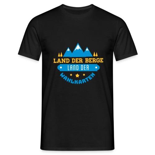 Land der Berge Land der Wahlkarten - Männer T-Shirt
