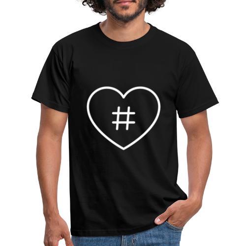 Hashtag Herz - Männer T-Shirt