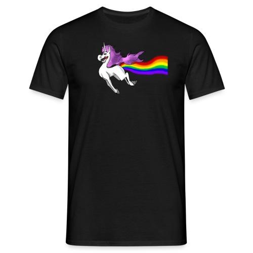 unicorns fart rainbows by sperlingsmaedchen - Men's T-Shirt