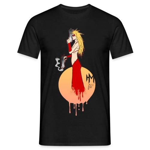schwarz gunchick png - Männer T-Shirt