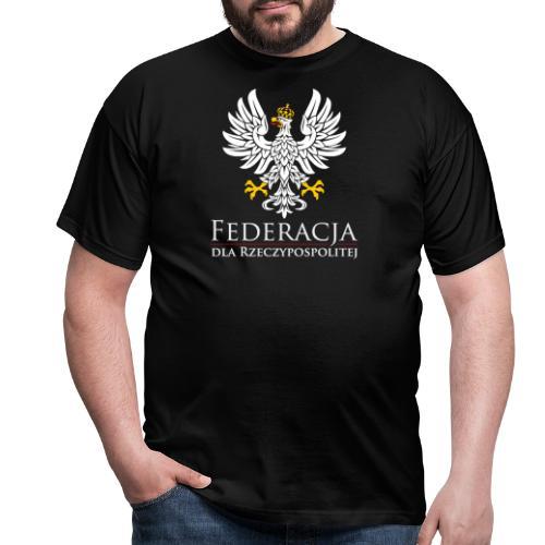 fdr biały napis - Koszulka męska