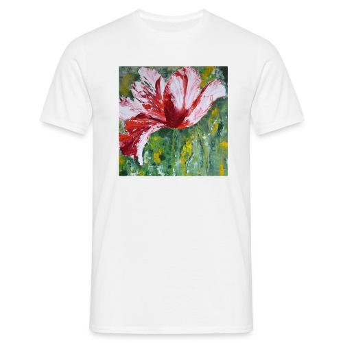 tulp met pallet mes - Mannen T-shirt