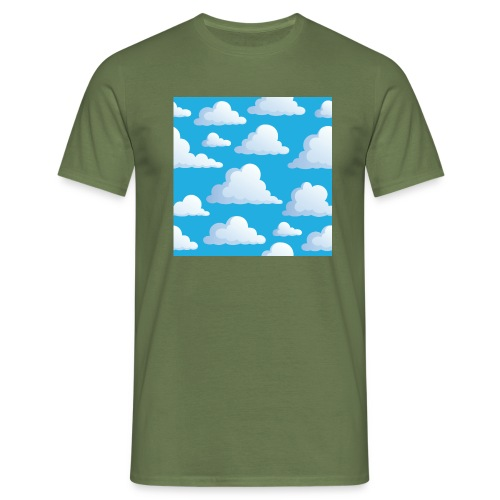 Cartoon_Clouds - Men's T-Shirt