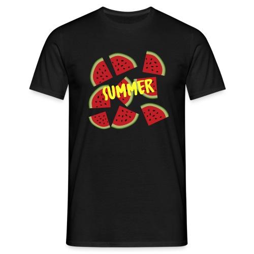 Sommer Sonne Wassermelone - Männer T-Shirt