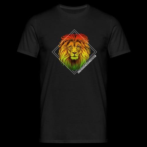 LION HEAD - UNDERGROUNDSOUNDSYSTEM - Männer T-Shirt