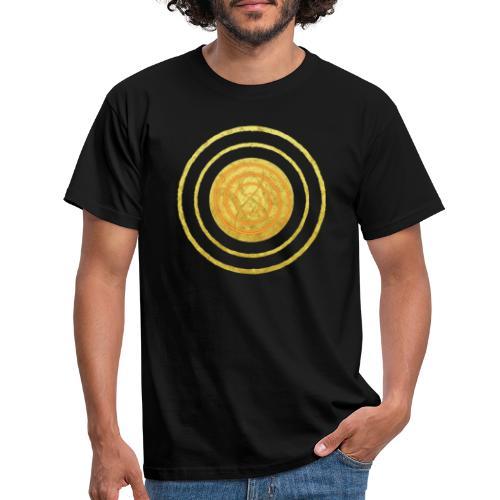Glückssymbol Sonne - positive Schwingung - Spirale - Männer T-Shirt