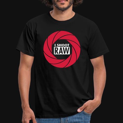 I SHOOT RAW - Männer T-Shirt