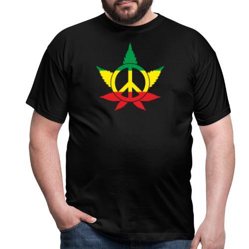 Peace färbig - Männer T-Shirt
