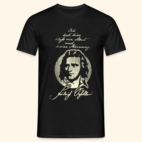 Schiller Zitat T-Shirt Design - Männer T-Shirt