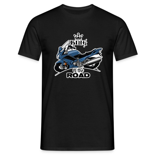 0885 FJR KING of the ROAD (blauw) - Mannen T-shirt