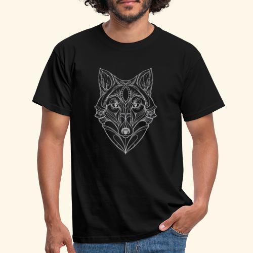Wolf by ELKAN for black designs - Herre-T-shirt