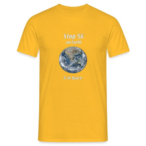Stop 5G on Earth and in Space - Men's T-Shirt