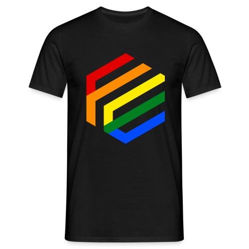 Rainbow Fusion logo - Mannen T-shirt