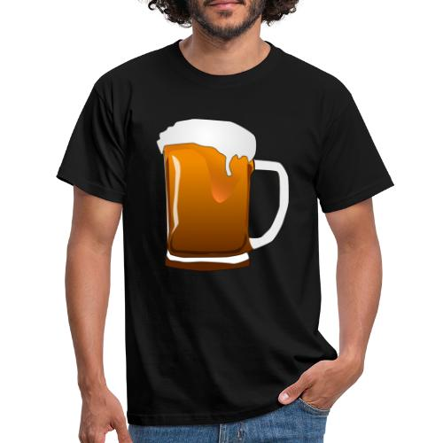 Cartoon Bier Geschenkidee Biermaß - Männer T-Shirt