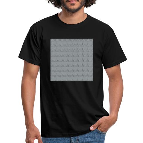 helsinki railway station pattern gray - Men's T-Shirt
