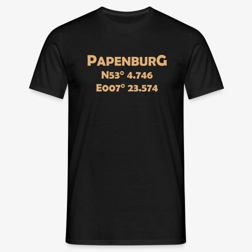 papenburg_coords - Männer T-Shirt