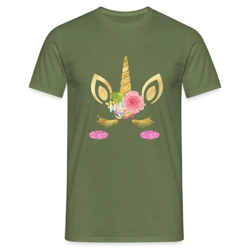 unicorn face - Männer T-Shirt