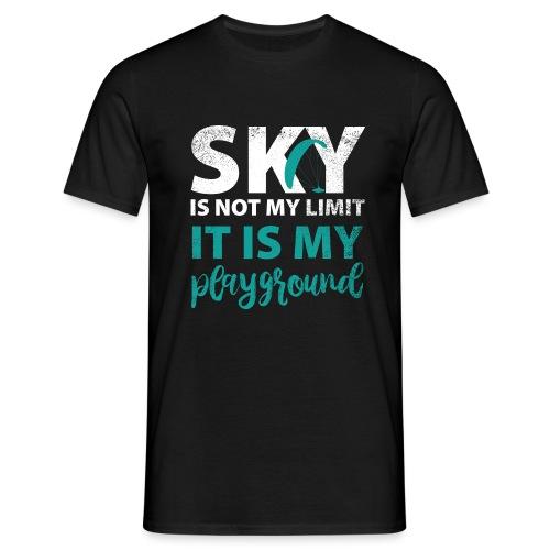 Sky is not my limit Paragliding - Männer T-Shirt