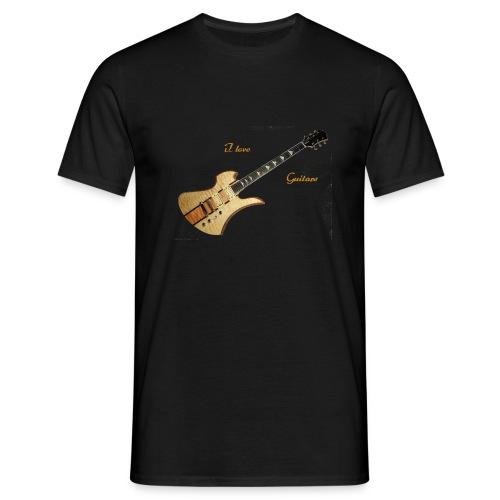 I love Guitars - Männer T-Shirt