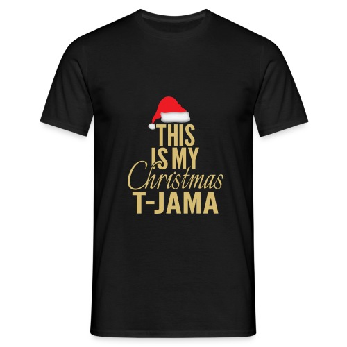 This is my christmas t jama gold 01 - Maglietta da uomo