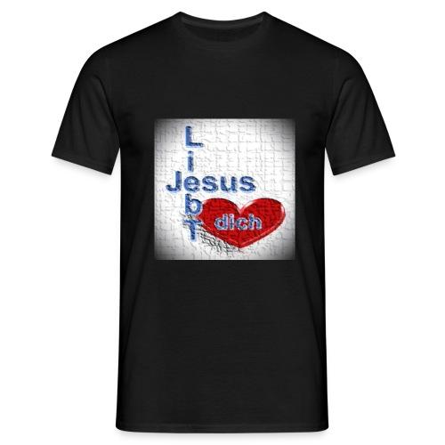 Jesus liebt dich - Männer T-Shirt