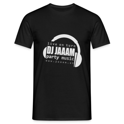 logo dj jaaam partymusic neg obj - Männer T-Shirt