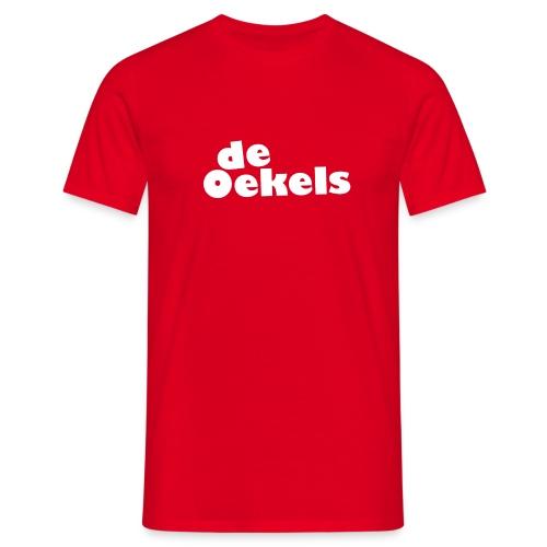 DeOekels t-shirt Logo wit - Mannen T-shirt